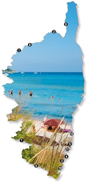Karte Sardinien Strände.Die Schönsten Strände Korsikas