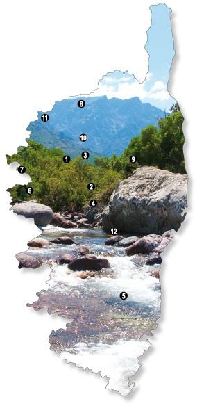 Die schönsten Gipfel auf Korsika