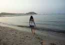 Strand von Calvi am Abend