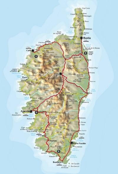 Landkarte Korsika