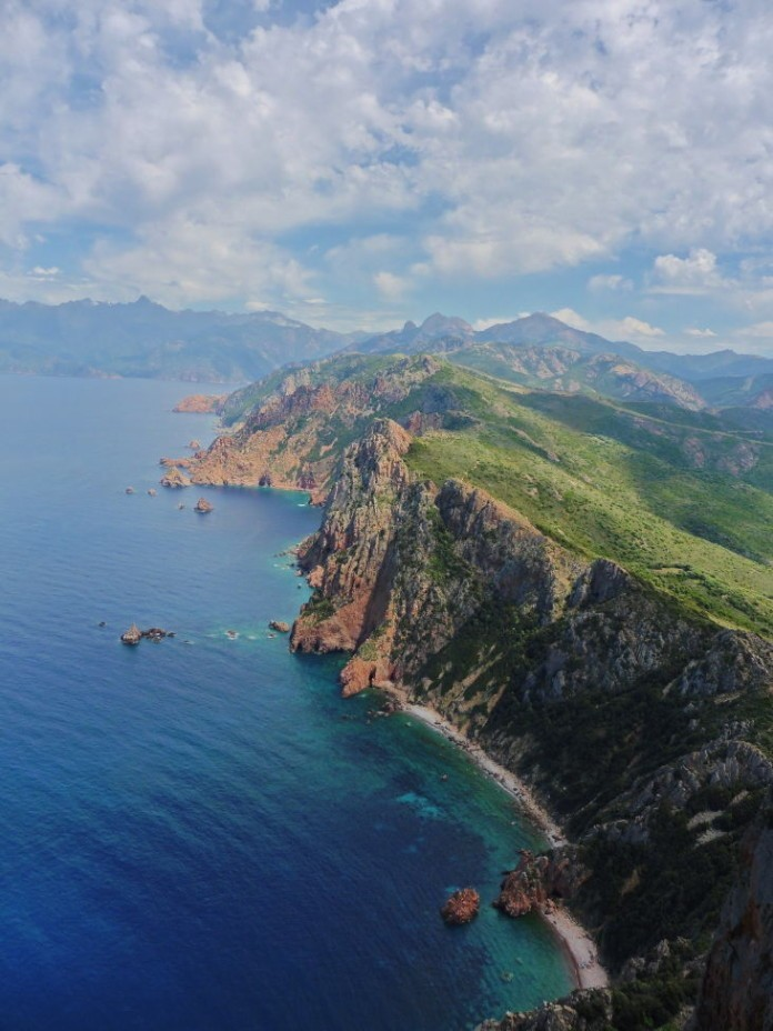 Blick vom Capu Rosso